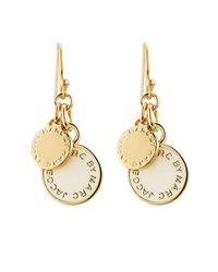 Marc By Marc Jacobs | Metallic Enamel Disc Earrings | Lyst