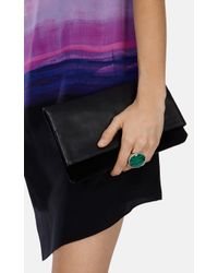 Karen Millen | Metallic Semi Precious Statement Ring | Lyst