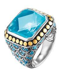 John Hardy | Batu Naga Ring Blue Topaz Size 7 | Lyst