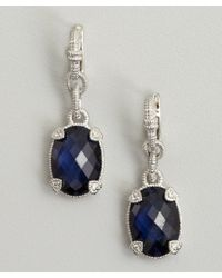 Judith Ripka - Metallic Blue Corundum and Silver Drop Earrings - Lyst
