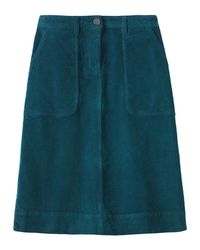 Toast | Blue Cord A Line Skirt | Lyst