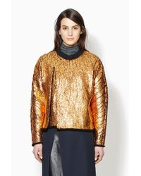 3.1 Phillip Lim - Metallic Cut Away Sweatshirt for Men - Lyst