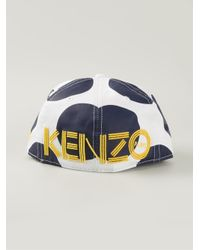 KENZO - Blue 'New Era' Dots And Eiffel Cap for Men - Lyst