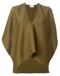 Maison Rabih Kayrouz - Green Draped Sleeveless Top - Lyst