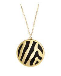Halcyon Days - Metallic Gold Zebra Pendant - Lyst