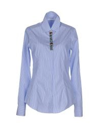 Aglini | Blue Shirt | Lyst