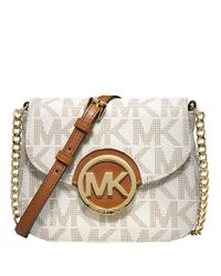 MICHAEL Michael Kors | White Fulton Signature Small Cross-body Bag | Lyst