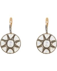 Munnu | Metallic Diamond Indo Russian Drop Earrings | Lyst