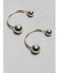 & Other Stories - Metallic Ball Hook Earrings - Lyst