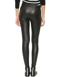 Mackage - Black Stretch Leather Pants - Lyst