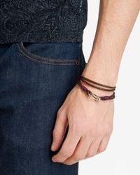 Ted Baker   Brown Woven Leather Bracelet for Men   Lyst
