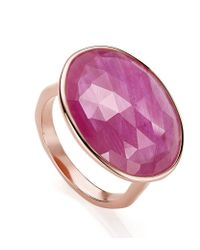 Monica Vinader | Purple Riva Precious Ruby Cocktail Ring | Lyst