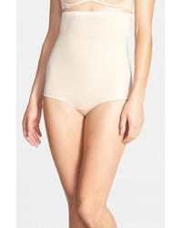 Spanx - Natural High Waist Shaping Briefs - Lyst
