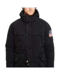 Denim & Supply Ralph Lauren - Black Cotton-blend Down Parka for Men - Lyst