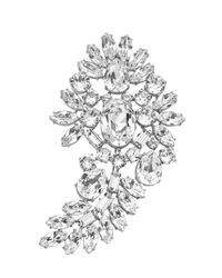 Michael Kors | Metallic Crystal Brooch | Lyst