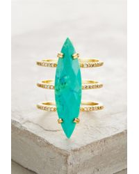Melanie Auld - Blue Orbited Turqoise Ring - Lyst