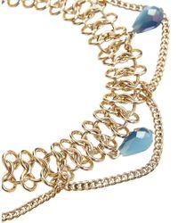 ASOS - Blue Summer Bead Anklet - Lyst