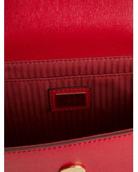 Fendi - Red Demi Jour Calf-Leather Shoulder Bag - Lyst