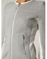 IRO - Gray 'Clever' Knitted Jacket - Lyst
