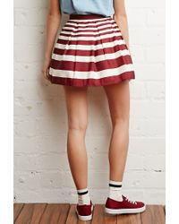 Forever 21 - Red Pleated Mini Skirt - Lyst