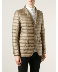 Herno - Natural Padded Blazer for Men - Lyst