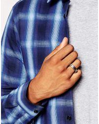 ASOS | Metallic Screw Detail Ring In Silver for Men | Lyst