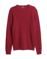 H&M | Red Jumper In Premium Cotton for Men | Lyst