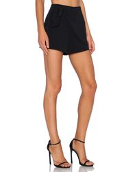 1.STATE - Black Wrap Front Side Tie Short - Lyst