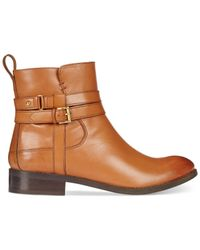 Clarks - Brown Artisan Women's Pita Austin Booties - Lyst
