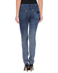 April77 - Blue Denim Pants - Lyst