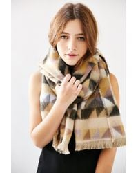 Urban Outfitters - Multicolor Avant Garde Brushed Woven Scarf - Lyst