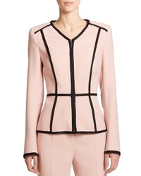 ESCADA - Pink Wool Peplum Blazer - Lyst