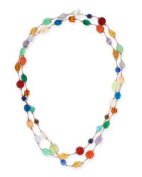 Margo Morrison - Multicolor Carnival Multi-stone Long Necklace - Lyst