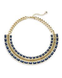 House of Harlow 1960 - Blue Beaded Collar Necklace - Lyst