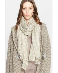 Fabiana Filippi - Gray Silk Wool Burnout Scarf - Lyst