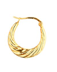ASOS - Metallic Gold Plated Sterling Silver Twisted Hoop Earrings - Lyst