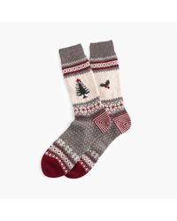 J.Crew - Gray Chup Santa Socks for Men - Lyst