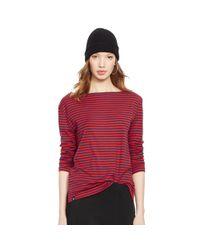 Polo Ralph Lauren | Blue Striped Long-sleeved Tee | Lyst