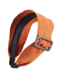 Ficcare | Orange Buckle Headband | Lyst