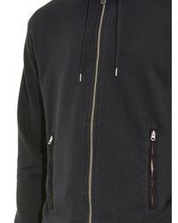 Acne Studios - Black Johna Hooded Zip Sweatshirt for Men - Lyst