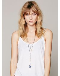 Free People - Blue Womens Double Layer Rosary - Lyst