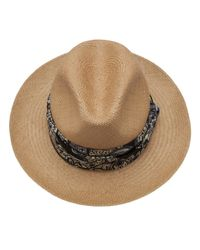 Lanvin - Brown Panama Hat - Lyst
