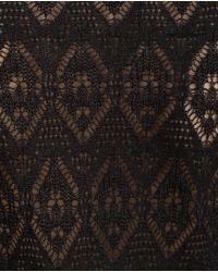 Zara | Black Open Knit Dress | Lyst