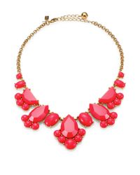 kate spade new york | Pink Day Tripper Clustered Bib Necklace | Lyst