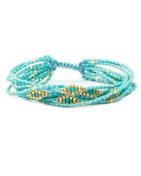 Chan Luu | Metallic Turquoise Mix Multi Strand Breaded Cluster Bracelet | Lyst