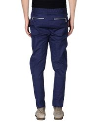 KENZO - Blue Casual Trouser for Men - Lyst