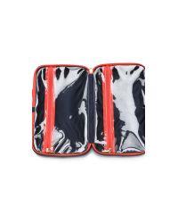 Tory Burch - Blue Print Hanging Zip Cosmetic Case - Navy Multi - Lyst