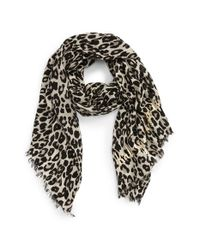 kate spade new york | Multicolor Cheetah Print Wool Scarf | Lyst