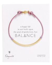 Dogeared | Purple Lilac Balance Tube Bracelet | Lyst