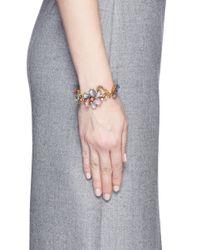 Erickson Beamon | Multicolor 'botanical Garden' Swarovski Crystal Floral Bracelet | Lyst